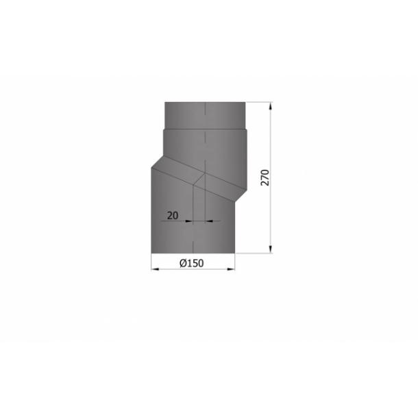 S-bøjning Ø 150 mm