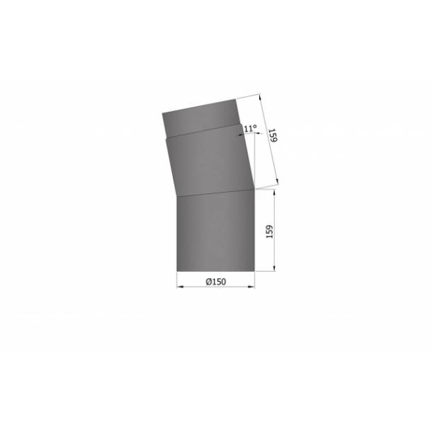 Bøjning Ø 150 mm - 11 gr.