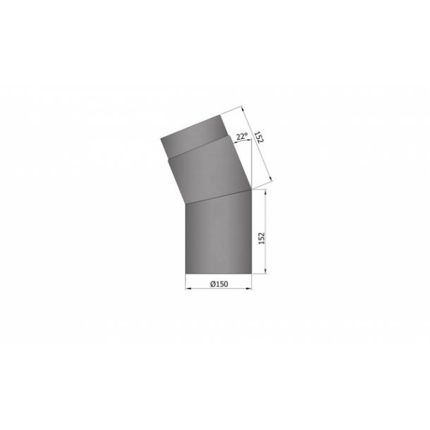 Bøjning Ø 150 mm - 22 gr.