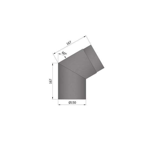 Bøjning Ø 150 mm - 60 gr.