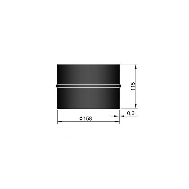 Murbøsningn indv. Ø158mm (længde 115 mm)