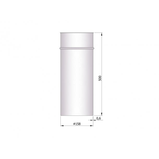 Murbøsningn indv. Ø158mm (længde 500 mm)