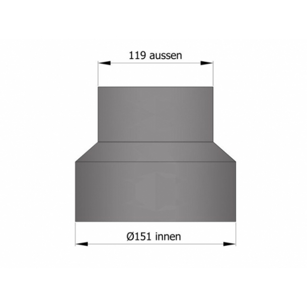 Reduktion Ø150 mm til Ø120 mm
