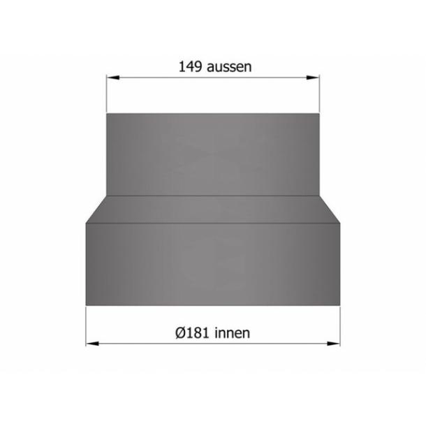 Reduktion Ø180 mm til Ø150 mm