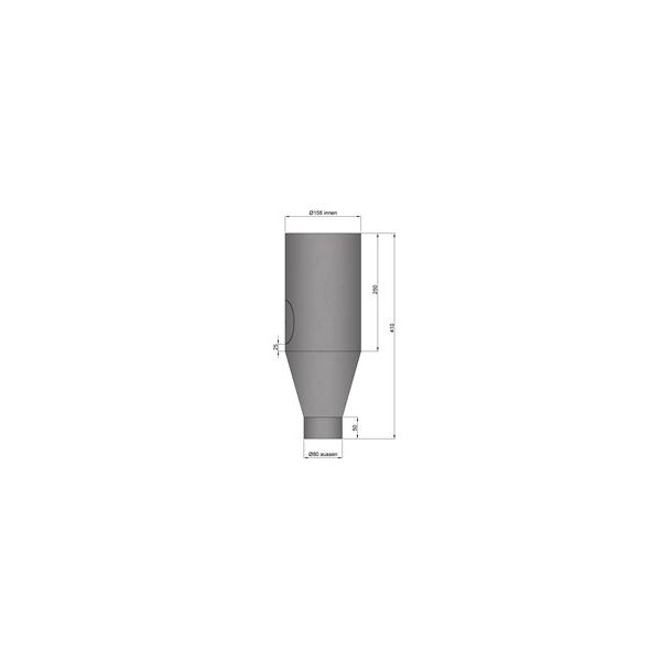 Udvidelse/kobling Ø80 - 150 mm med renseklap