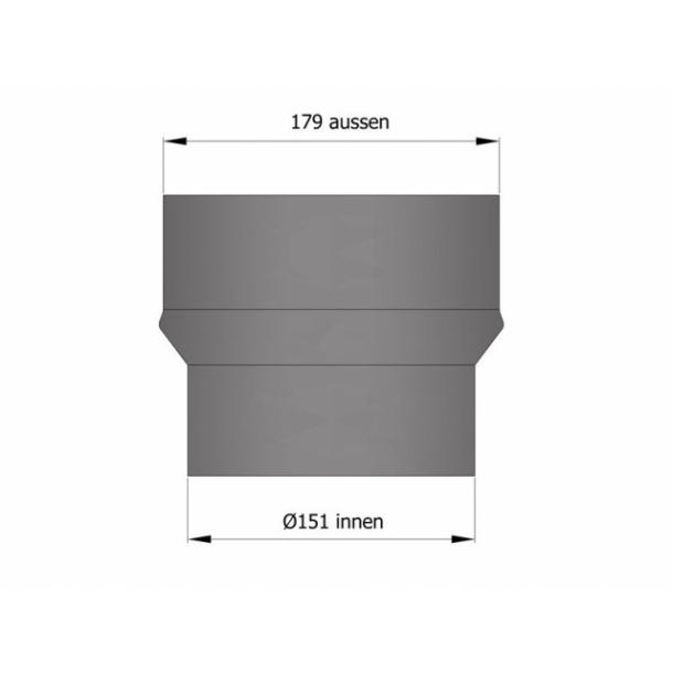 Udvidelse Ø150 mm til Ø180 mm