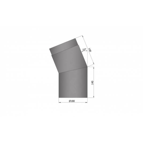 Bøjning Ø 180 mm - 22 gr.