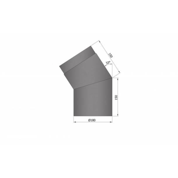 Bøjning Ø 180 mm - 33 gr.