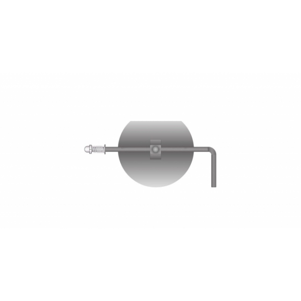 Spjæld Ø 180 mm rustfrit
