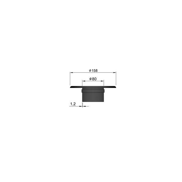Rosette med bøsning 39 mm kant
