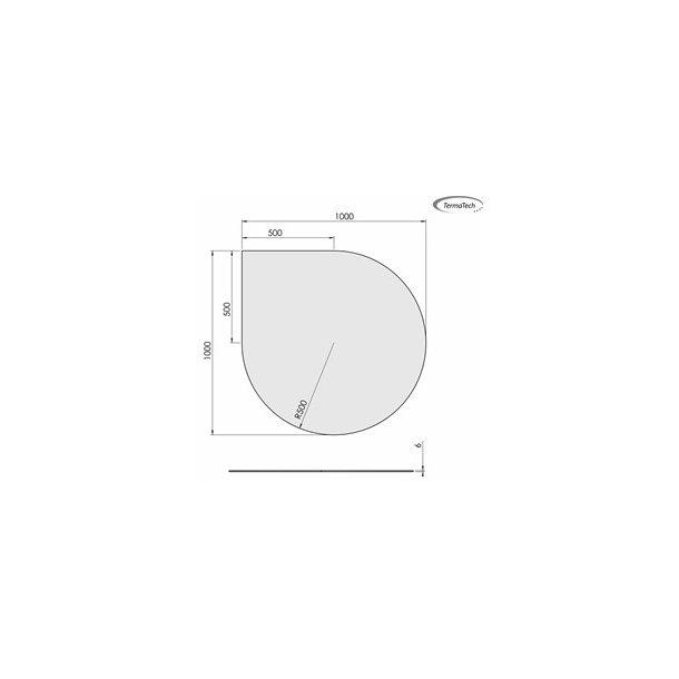 Dråbeformet - 1000x1000 mm