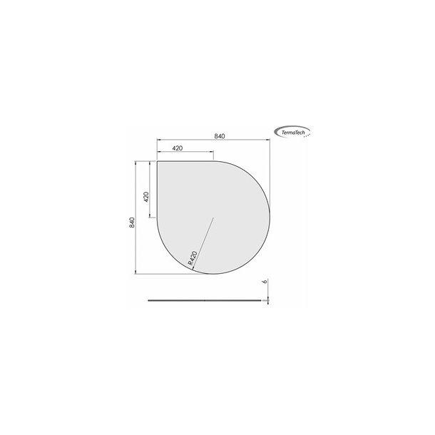 Dråbeformet - 840x840 mm