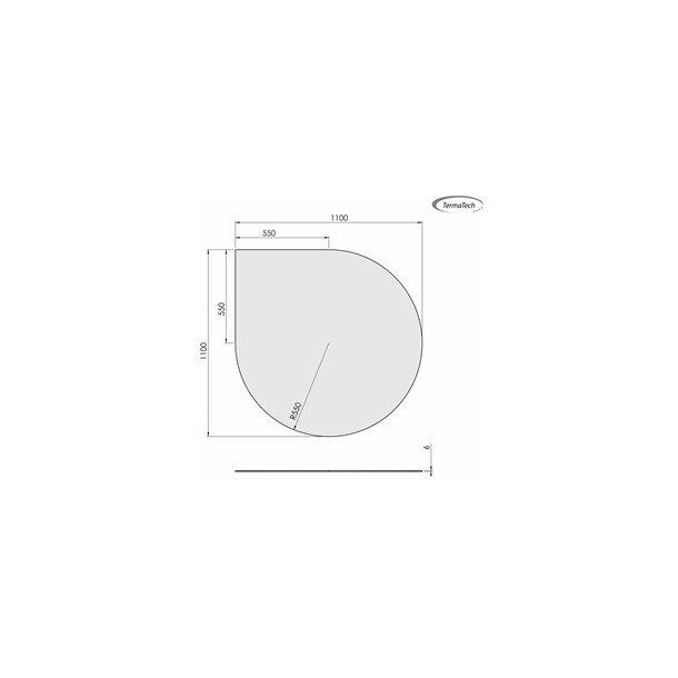 Dråbeformet - 1100x1100 mm