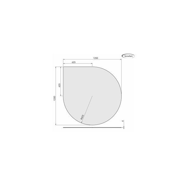 Dråbeformet - 1250x1250 mm