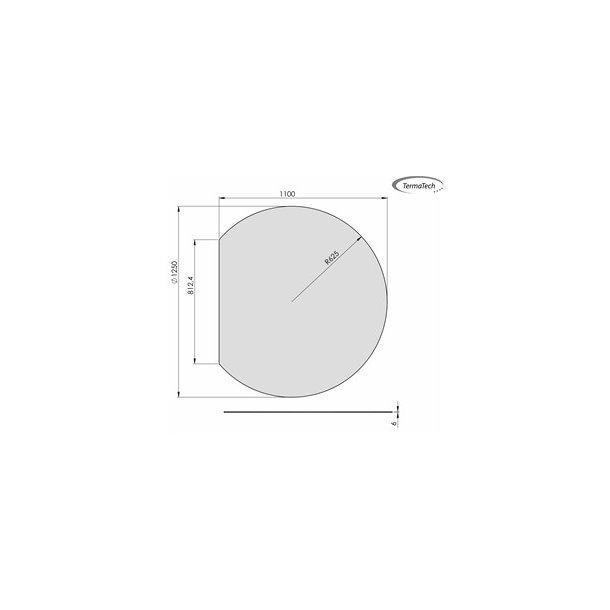 Cirkel med lige bagkant - 1100x1250 mm