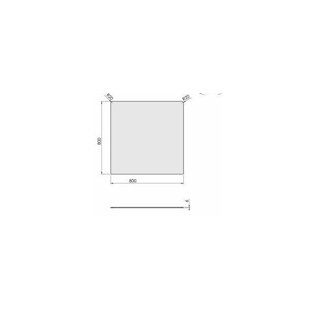 Firkant - 800x800 mm (6 mm glas)