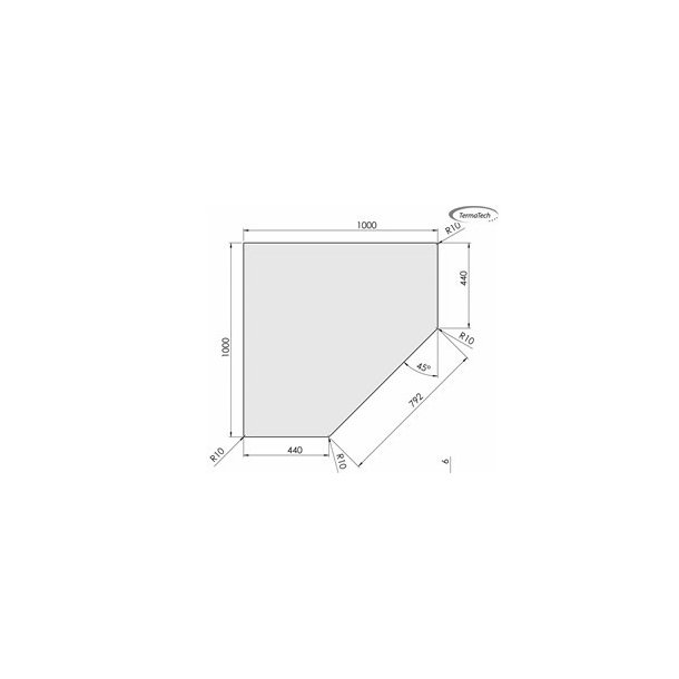 Femkantet - 1000x1000 mm