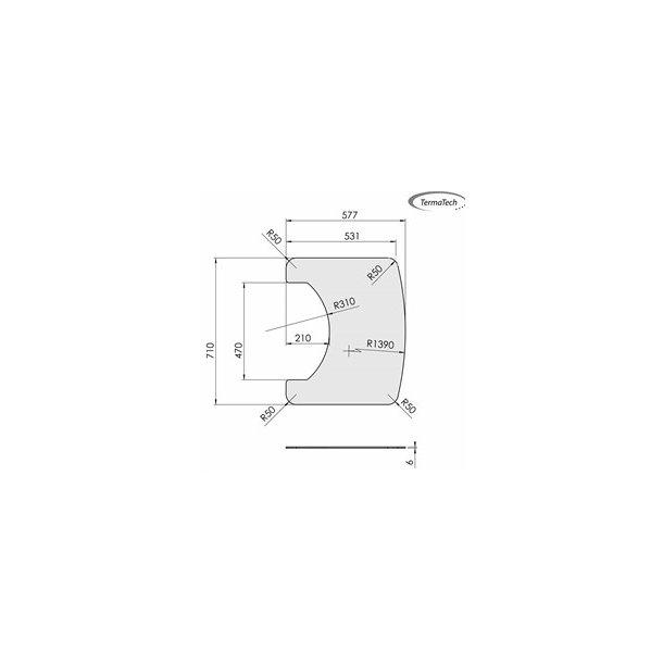Formgulvplade i glas til TT20+TT21