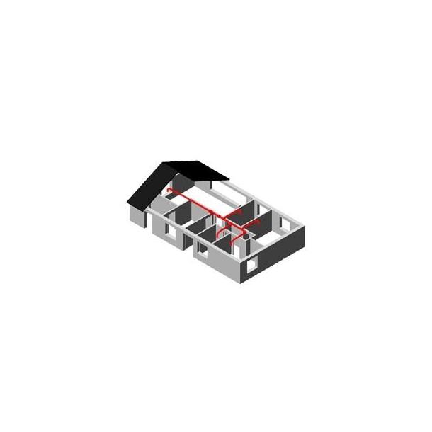 Varmeflytter 400m3/t Ø160 (4 rum)