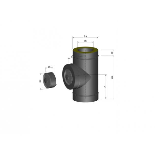 T-stykke inkl. spændebånd - Ø 80 mm