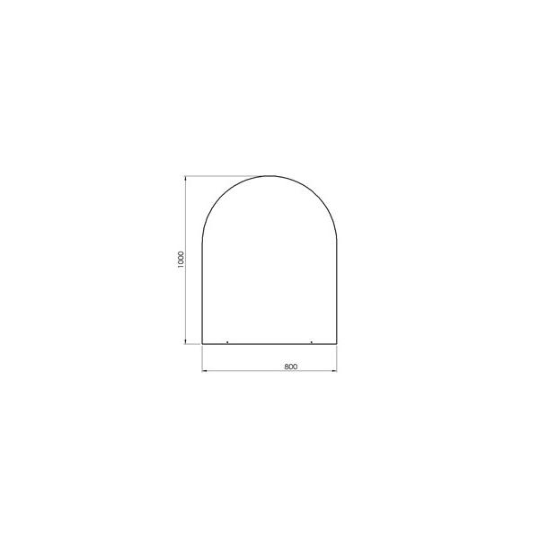Lige med cirkelbue - 800x1000 mm