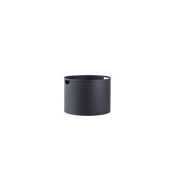 Brændespand sort stål