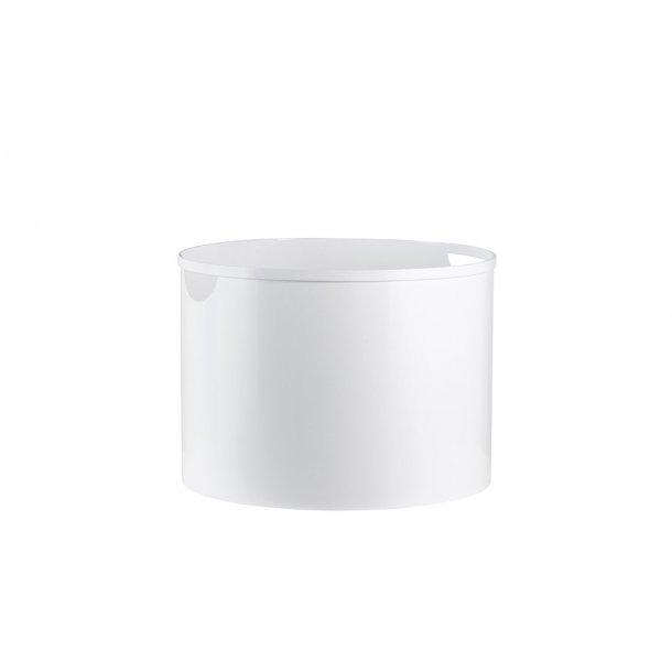 Brændespand hvid stål