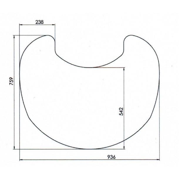 Formgulvplade i glas til TT10/TT20/TT21