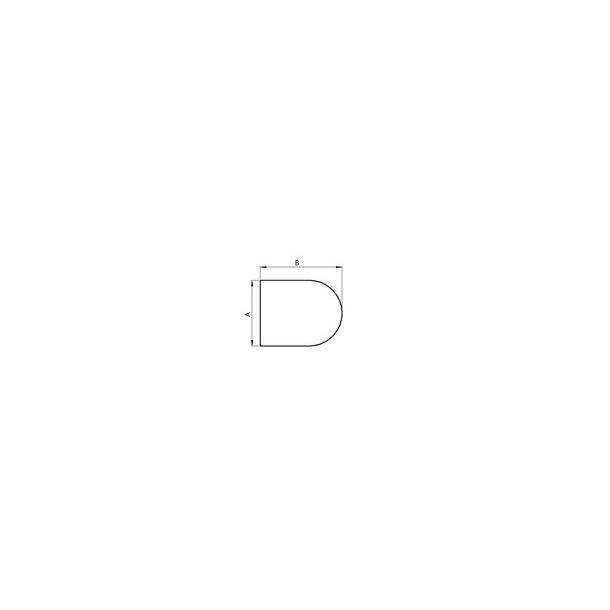 Lige med cirkelbue - 850x850 mm